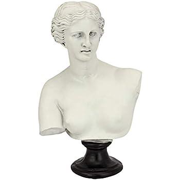 Design Toscano Venus de Milo Bust Statue, 12 Inch, Polyresin, Antique Stone