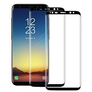 - [2-Pack] BALADOG Galaxy S8 Plus Screen Protector Glass [Easy Installation ] 3D Curved [Ultra HD Clear] Screen Protector for Galaxy S8 Plus S8+ (6.2