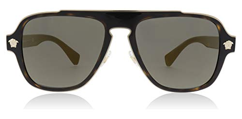 Versace Mens Sunglasses Tortoise/Gold Metal - Non-Polarized - 56mm by Versace