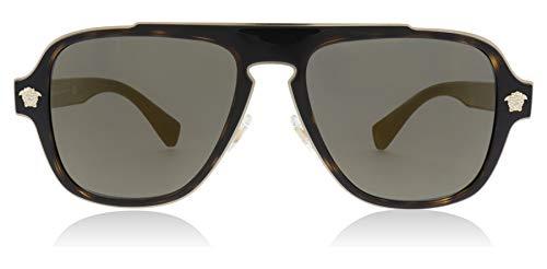 1291ecfae8f2 Versace Mens Sunglasses Tortoise/Gold Metal - Non-Polarized - 56mm