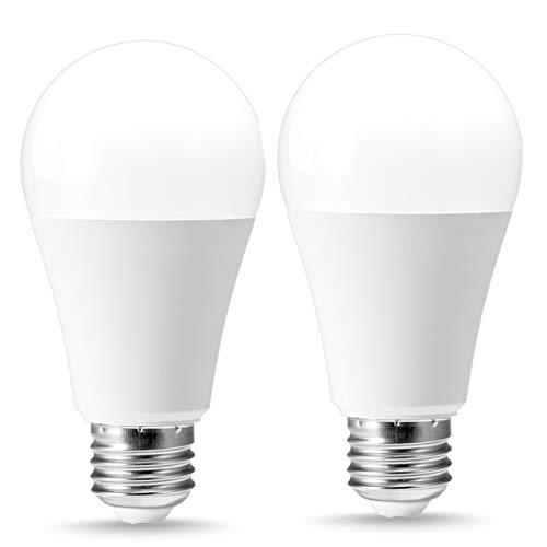 TechgoMase A19 Frosted Light Bulb, 12W(100W Equivalent), 3 Color LED Light, 2700K/4000K/6000K 1000Lumens, 3 Color Adjustable White Light, E26 Medium Base Edison Bulb for Home Lighting(2 Pack) by TechgoMade
