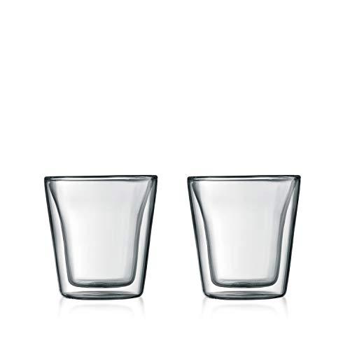 (Bodum Canteen Double Wall Espresso/Shot Glass, Set of 2)