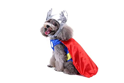 Do4Pets Pets Costumes for Your Dogs and Cats, Halloween Outfit, Party Apparel, Christmas Suit, Special Events Coat,Funny Pets Clothes (10 (Thor, XXL) -