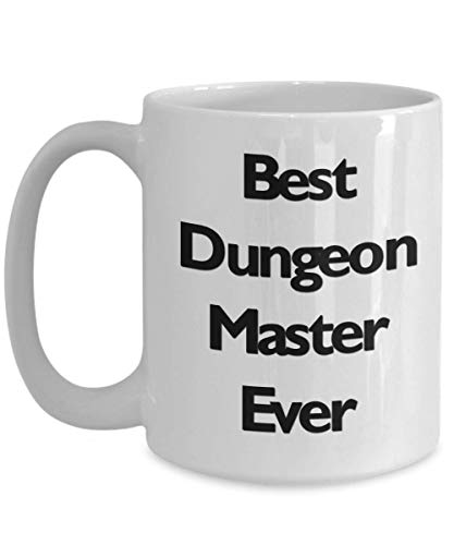 DnD DM Mug Best Dungeon Master Ever 11oz 15oz Novelty Gift D&D Coffee Cup Dungeons Dragons D and D Dungeon Dragon