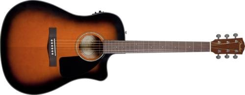 Fender CD60CE Cutaway Dreadnought Acoustic-Electric Guitar Sunburst