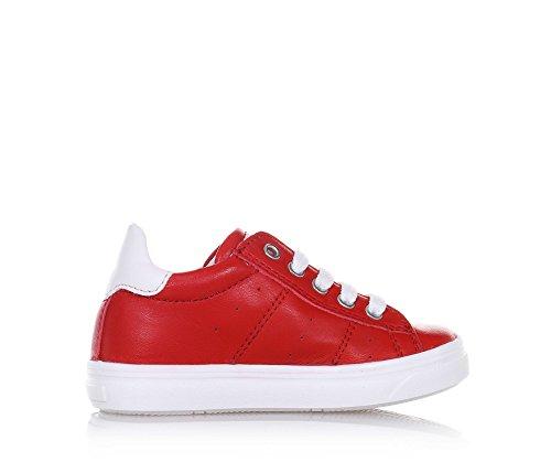 CIAO BIMBI - Roter Schuh mit Schnürsenkeln, aus Leder, in jedem Detail gepflegt, Stil, Qualität, Jungen