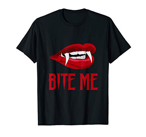 Bite Me TShirt Vampire Teeth Easy DIY Halloween Costume