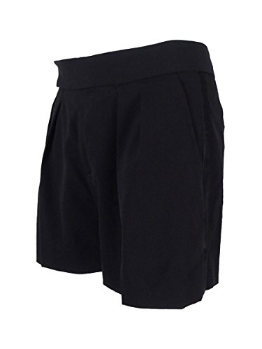 Polo Ralph Lauren Women's Pleated Wool Blend Solid Shorts (12, Black) by Polo Ralph Lauren