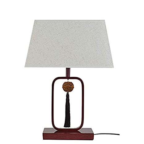 LXQGR Lámpara de Mesa LED Tejido Pantalla Ojo E26 Simple ...