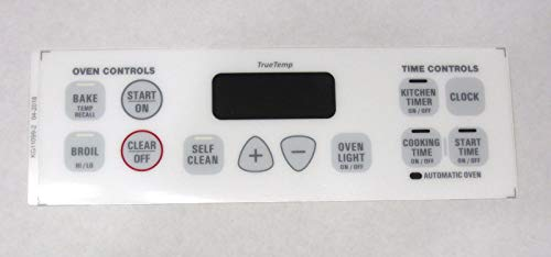 Oven Clock Overlay Touch Pad WB27K10132 for GE ERC Range Control ()