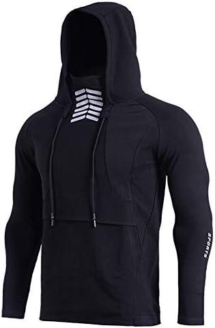 男性のためのスポーツパーカー、ウルトラストレッチトレーニングを実行するためのフィットネスシャツを実行しているトレーニングとクイックドライフード付きの服,XL