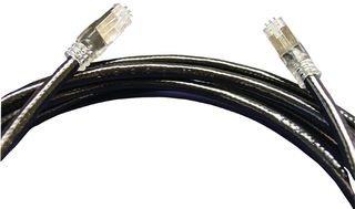 Ethernet Cable, Cat5e, Cat5e, RJ45 Plug, RJ45 Plug, 25 ft, 7.6 m, Black by AMPHENOL PCD