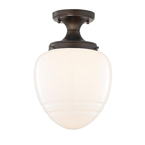 (Schoolhouse Flush Ceiling Light Bronze)