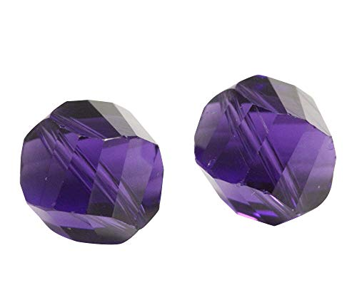 24 8mm Adabele Austrian Helix Crystal Beads Purple Velvet Compatible with Swarovski Preciosa Crystals 5020 SSH-827