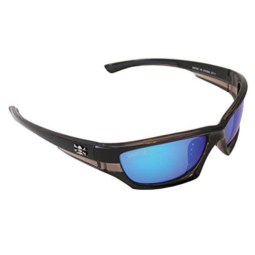 Calcutta LR1BM Long Range Sunglasses, Black Frame, Blue Mirror