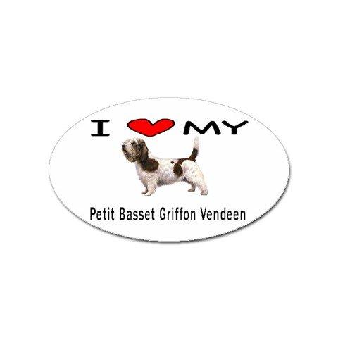 I Love My Petit Basset Griffon Vendeen Oval Magnet