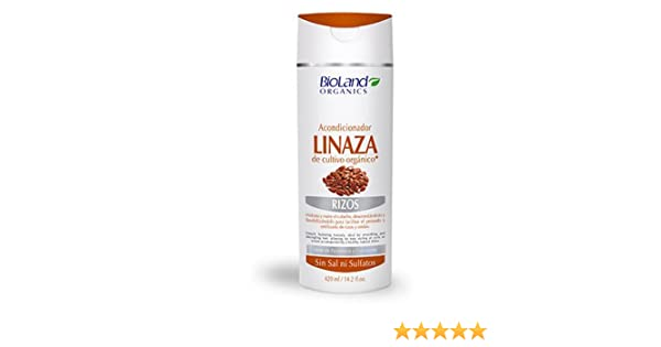 Amazon.com : Flax Seed Organic Conditioner 14.2 fl. oz. | Acondicionador De Linaza Orgánica 420 ml : Beauty