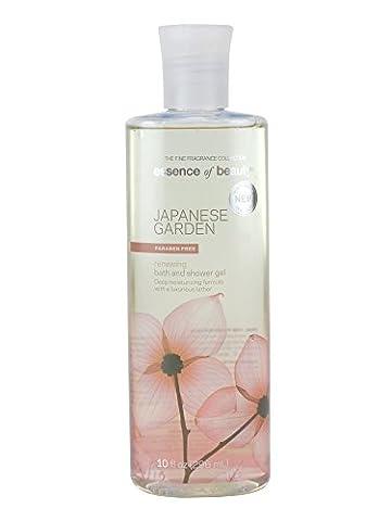 Essence of Beauty Bath and shower Gel, 10fl oz (296 ml) Deep Moisturizing formula with a luxurious lather (Japanese Garden)