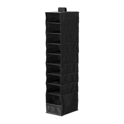 Ikea Skubb Black Clothes Shoes Multi Use Organizer with 9 Compartments