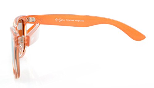 Eyekepper Marrón años la de los vendimia gafas Clásico de Espejo 80 Oro de sol polarizadas nTFCn