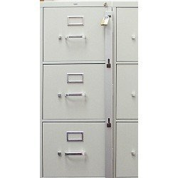 Locking Bar for Use with 3 Drawer Filing Cabinet (cabinet not included)