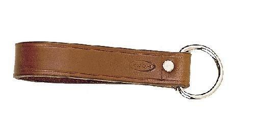 Tory Leather Girth Loop with Nickel Dee - Havana