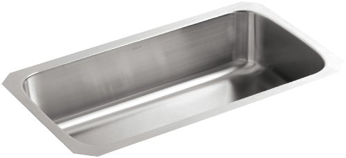- KOHLER K-3183-NA Undertone Extra-Large Undercounter Kitchen Sink, Stainless Steel