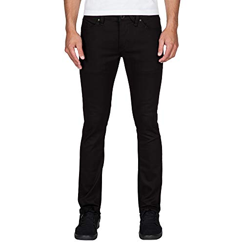 Volcom Men's 2x4 Stretch Denim Jean, Black On Black, 31X30