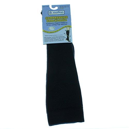 UPC 096549110164, 2 Pairs Dr. Motion Compression Knee-Hi Men's Socks Navy Blue Size 10-13