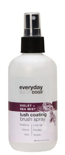 Everyday Isle of Dogs Lush Coating Dog Brush Spray, violet + Sea Mist for Poodles, Terriers and Limp Hair, 8.4oz, My Pet Supplies