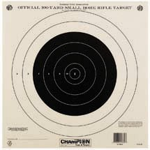 - Champion Traps and Targets 40777 NRA Paper TQ-4(P) 100-yard Single Bullseye to Train or Qualify Target (Pack of 100)
