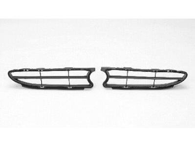 PASSENGER SIDE GRILLE Toyota Corolla FRONT BUMPER COVER LOWER; PLASTIC; BLACK. (WITHOUT MFR MANUFACTURER EMBLEMS / LOGOS. THEY ARE TRADEMARK PROTECTED.)