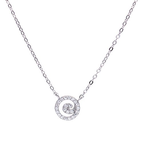 Womens sterling silver disc initial end 5262020 157 pm womens sterling silver disc initial necklace alphabet pendant necklace aloadofball Images