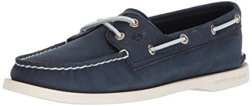 - SPERRY Women's A/O 2-Eye Boat Shoe, Navy, 8.5