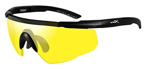 Wiley X Saber Advanced Smoke Grey Pale Yellow Lens Matte Black - Advanced X Wiley Sunglasses Saber