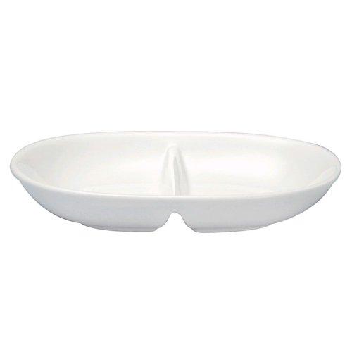 Wedgwood Cato Oval Bone China 2-Compartment Dish