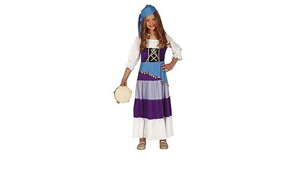 Guirca Disfraz de Zíngara para niña: Amazon.es: Juguetes y juegos
