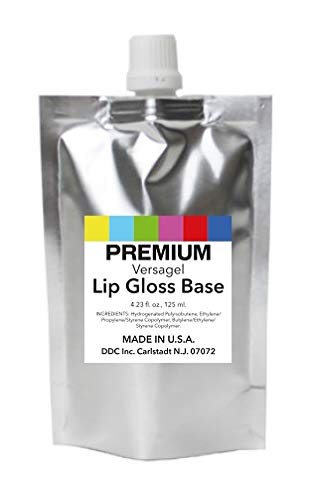 DDCI Lip Gloss Base Versagel Clear (4.23 Fl. oz, 125 ml.) MADE IN U.S.A.