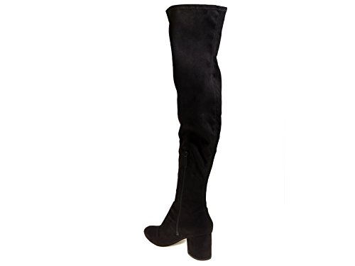 Kendall+Kylie Thigh high Boots in Black Fabric - Model Number: KKSOPHIA 03 Black YRvNwh