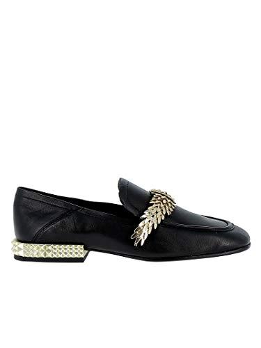 Edgy03 Cuero Zapatos Ash Negro Mujer 5xTnwYwt8