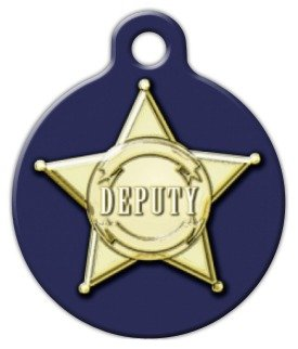 Deputy - Custom Pet ID Tag for Dogs and Cats - Dog Tag Art - LARGE (Deputy Dog)