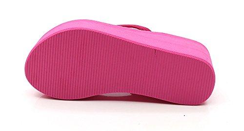 De Rosa Pink Chanclas Playa 40 Tacón De Mujer Zapatillas Cuña Tacones Alto De De AdAwCqT