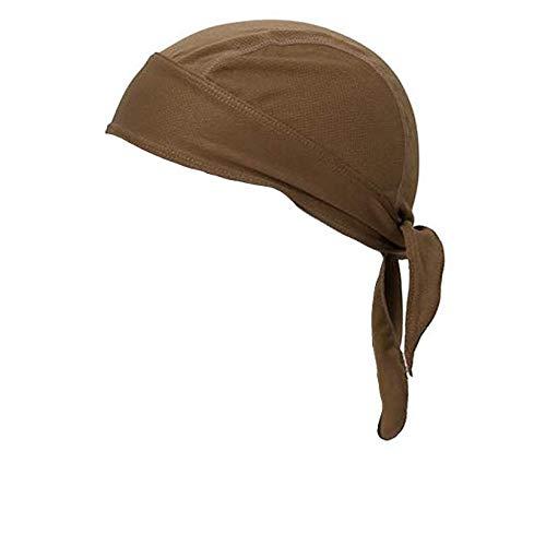 Solid Coyote Brown Micro Fiber Dry Fit Head Wrap Biker Hat Durag Skull Cap Stretch ()