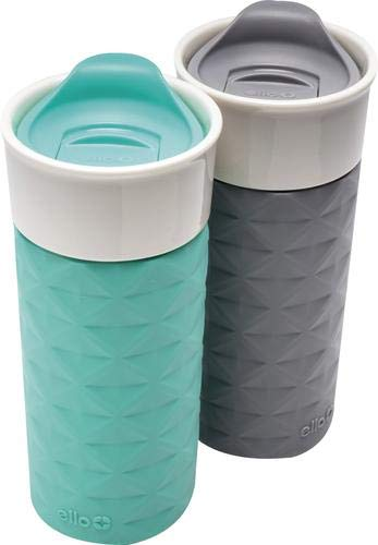 Ello Ogden BPA-Free Ceramic Travel Mug with Lid 2pk (2
