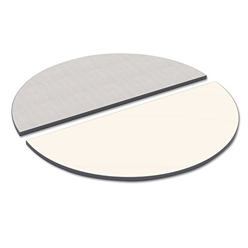 - Alera TTHR48WG Reversible Laminate Table Top, Half Round, 48w X 24d, White/Gray
