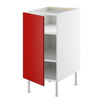 IKEA FAKTUM -Unterschrank mit Regalen Rubrik APPLÅD rot ...