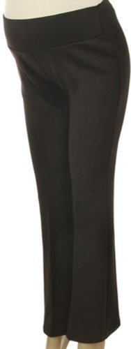 Mommylicious Womens Soft Cheap Maternity Capri Leggings Over Belly Black - XXXL