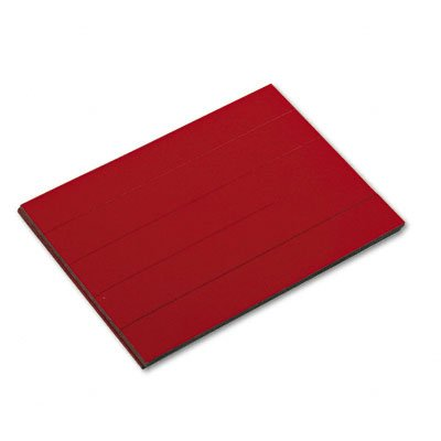 Board Visual Planning Magna - Magna Visual PMR-763 Magnetic Write-on/Wipe-Off pre-Cut Strips 7/8h x 6w, red, 25/Pack