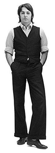 Celebrity Cutouts Paul McCartney (B&W) Pappaufsteller lebensgross