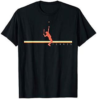 Cool Gift Tennis  Retro Tennis Player Gift Tennis Court Tshirt Women Long Sleeve Funny Shirt / Navy / S - 5XL